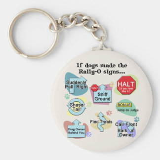 If Dogs Made Rally Signs Keychain