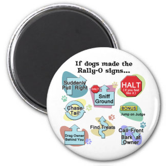 If Dogs Made Rally Signs Magnet