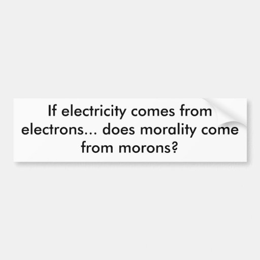 if electricity comes from electrons    does mor    bumper