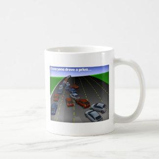 ...if everyone drove a prius classic white coffee mug