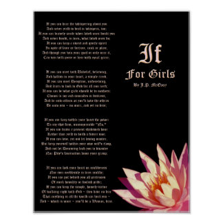 If For Girls Poem by J.P. McEvoy Print