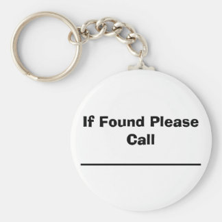 If Found Please Call Key Chains