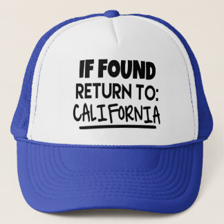 If Found, Return to California Hat