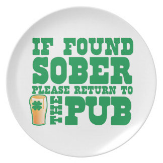 If found SOBER please return to the PUB Plate