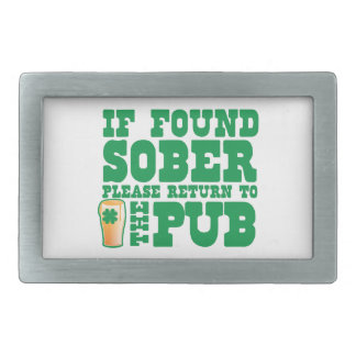 If found SOBER please return to the PUB Rectangular Belt Buckle