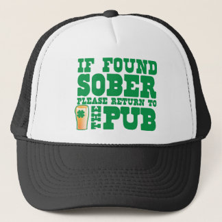 If found SOBER please return to the PUB Trucker Hat