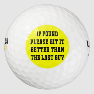 If Found - Ultra Distance Golf Ball Pack