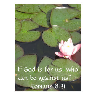 If God is for us who can be against us Romans 8:31 Postcard
