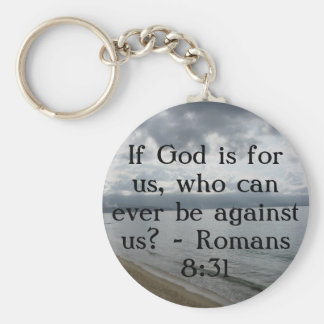 If God is for us, who can ever be against us? Keychain