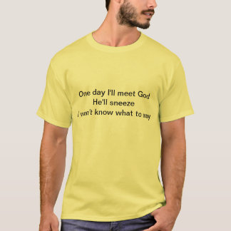 If God should sneeze, I won't know what to say T-Shirt