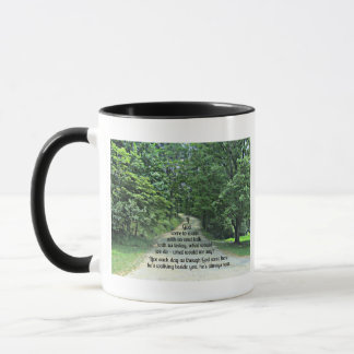 If God were to walk with us and talk with us... Mug