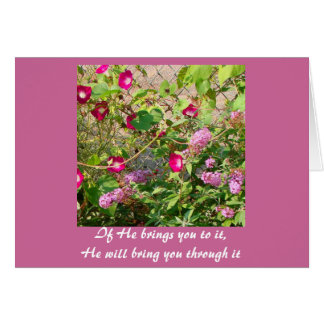 If He brings you to it, He will bring you through Stationery Note Card