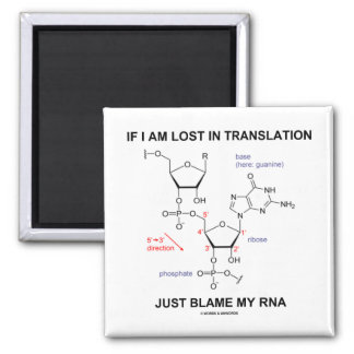 If I Am Lost In Translation Just Blame My RNA 2 Inch Square Magnet