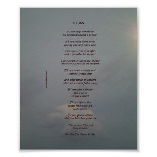 If I Can - A Zazzacious Poster Poem