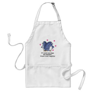 If I could rearrage the Alphabet... Adult Apron