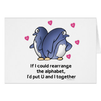 If I could rearrage the Alphabet... Card