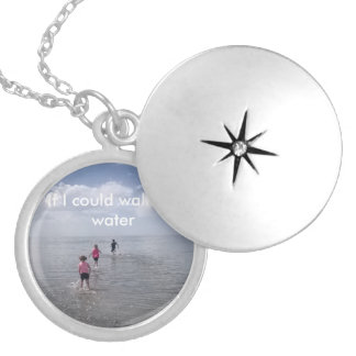 """""""If I could walk on water"""" locket"""
