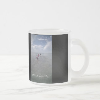 If I could walk on water 10 Oz Frosted Glass Coffee Mug