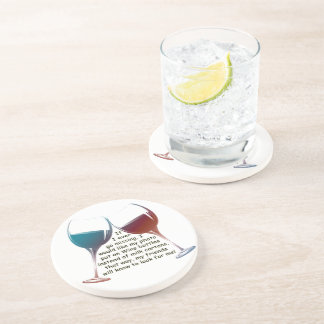 If I ever go missing fun Wine saying gifts Drink Coasters