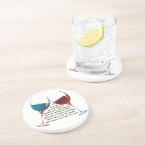 If I ever go missing... fun Wine saying gifts Sandstone Coaster