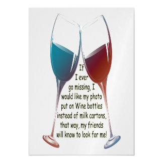 If I ever go missing fun Wine saying Magnetic Card