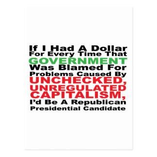 If I had a dollar... Postcard