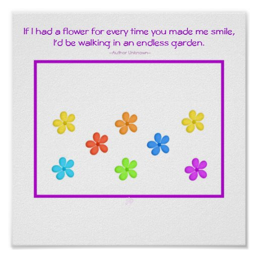 If I Had A Flower Poster