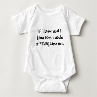 If  I knew what I know now. I would of NEVER ca... Baby Bodysuit