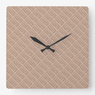 If I'm Frowning…in Brown Square Wall Clock