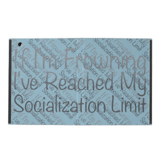 If I'm Frowning…in Grey iPad Cases