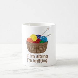 If I'm Sitting I'm Knitting Magic Mug