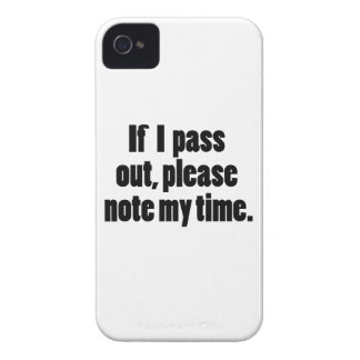 If I pass out… Bold Version Case-Mate iPhone 4 Case