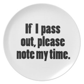 If I pass out… Bold Version Plate