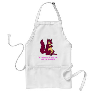 If I promise to miss you, will you go away? Adult Apron