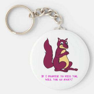 If I promise to miss you, will you go away? Keychain