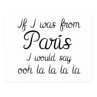If I was from Paris Postcard