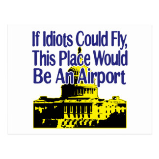 If Idiots Could Fly... Postcard