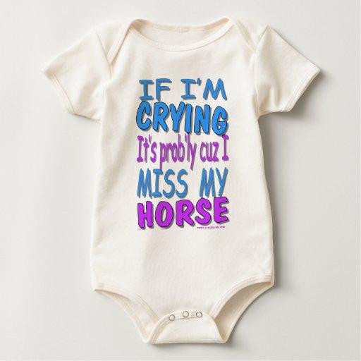 If I'm Crying Baby Bodysuit