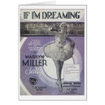 If I'm Dreaming Vintage Songbook Cover Card