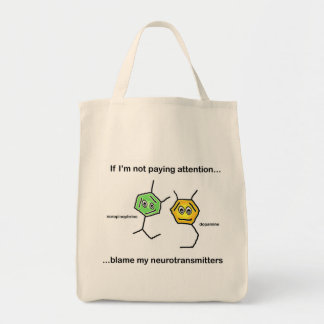 If I'm not paying attention... Grocery Tote Bag