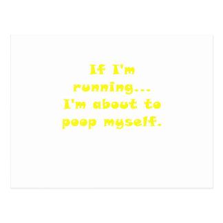If Im Running Im about to Poop Myself Postcard