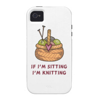 IF IM SITTING IM KNITTING iPhone 4/4S COVER