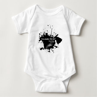 If in doubt, flat out baby bodysuit