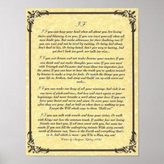 IF Inspiring Poem for Young Men by Rudyard Kipling Poster