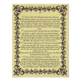IF Inspiring Poem for Young Women & Girls Poster