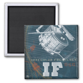 If: Irregular Frequency Satellite 66 2 Inch Square Magnet