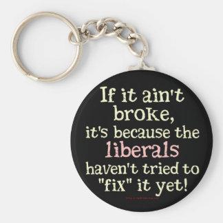 If it Ain't Broke.... Basic Round Button Keychain