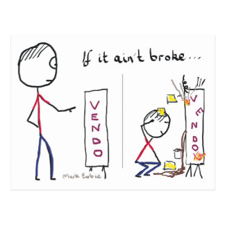 If It Aint Broke Postcard