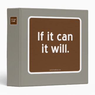 If it can it will. binder