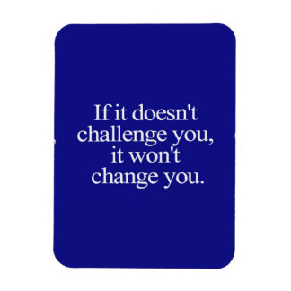 IF IT DOESN'T CHALLENGE YOU IT WON'T CHANGE YOU MO MAGNET